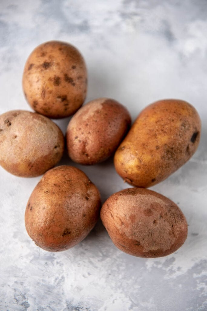 6 red baby potatoes
