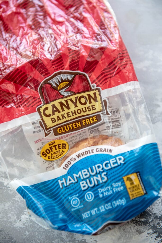 package of canyon bakehouse gluten free buns