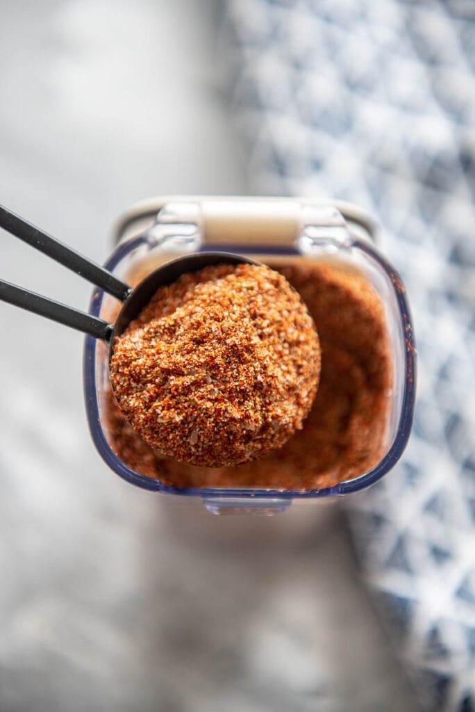 tablespoon filled with cajun seasoning