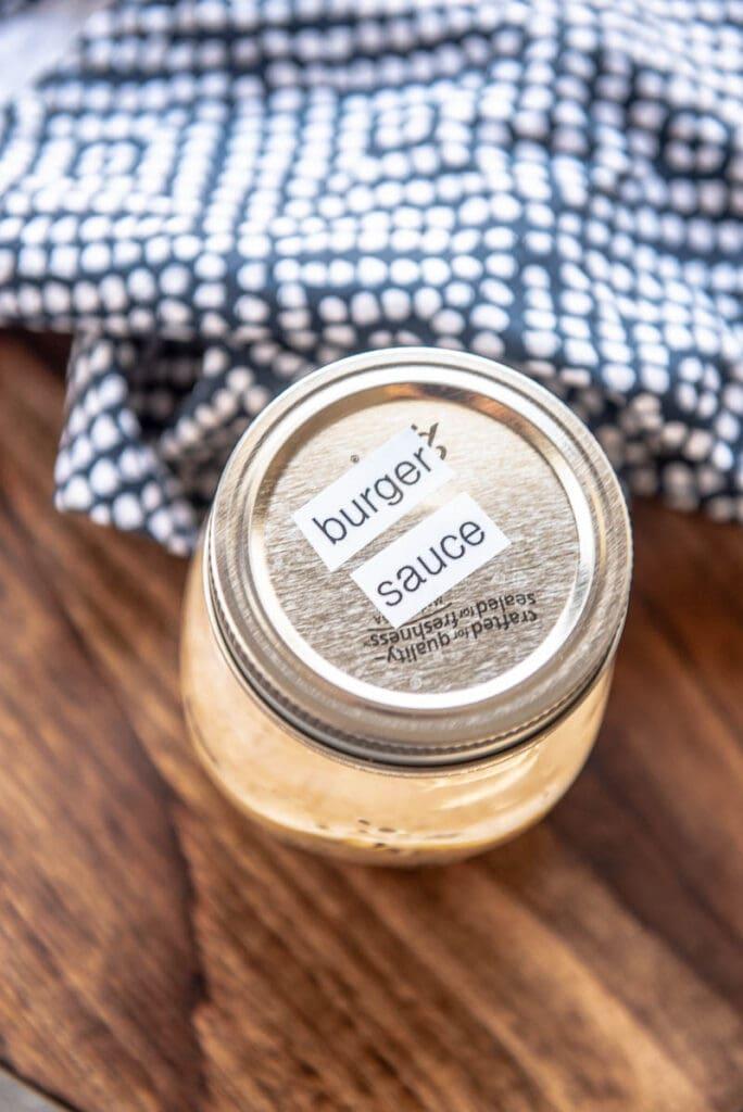 spicy burger sauce in a jar